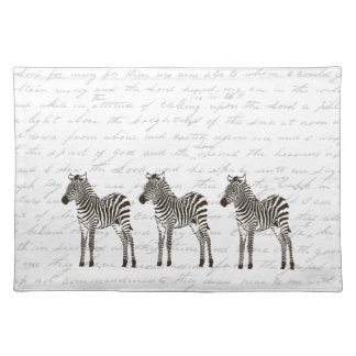 Three Zebras Placemat