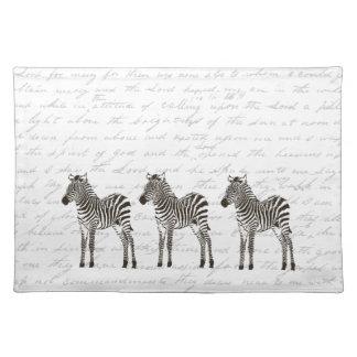 Three Zebras Placemats