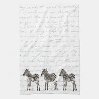 Three Zebras Tea Towel