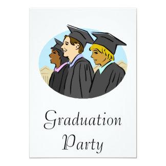 Threee Grads 13 Cm X 18 Cm Invitation Card