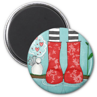 threes a crowd refrigerator magnets