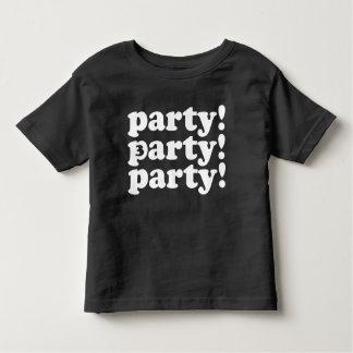 three's a party birthday tee