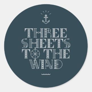 ThreeSheets.jpg Round Sticker