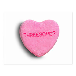Threesome Candy Heart Postcards