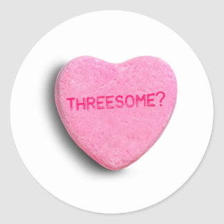 Threesome Candy Heart Sticker