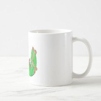Threme Green - Exotic CACTUS Flowers Mug