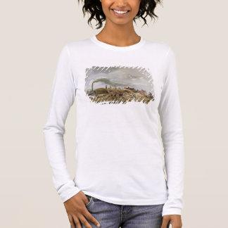Threshing Corn (pencil & w/c on paper) Long Sleeve T-Shirt
