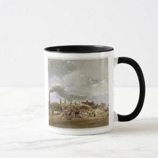 Threshing Corn (pencil & w/c on paper) Mug