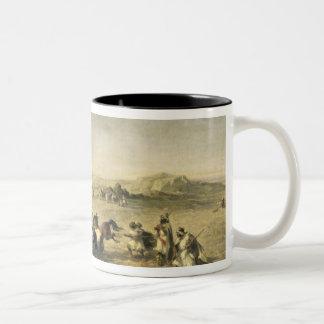 Threshing Wheat in Algeria, 1853 Two-Tone Coffee Mug