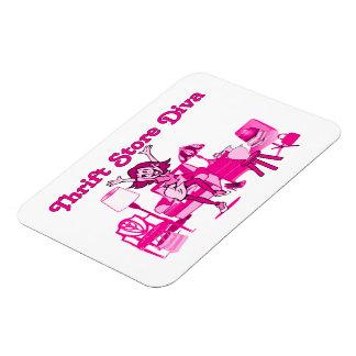 Thrift Store Diva Square Vinyl Magnets