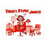 Thrift Store Junkie Postcard