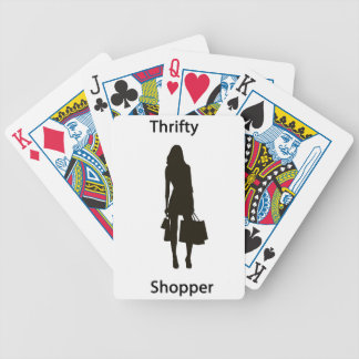 Thrifty shopper bicycle card deck