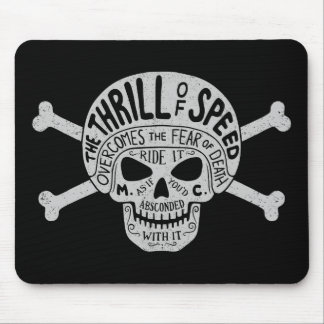 Thrill of Speed Skull Mouse Pad