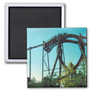 Thrill Ride Square Magnet