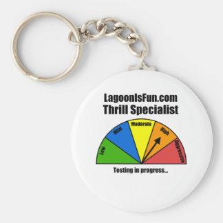 Thrill Specialist Basic Round Button Key Ring