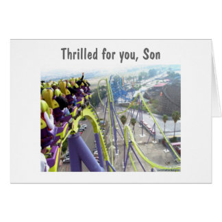 THRILLED FOR YOU SON--18th BIRTHDAY Greeting Card