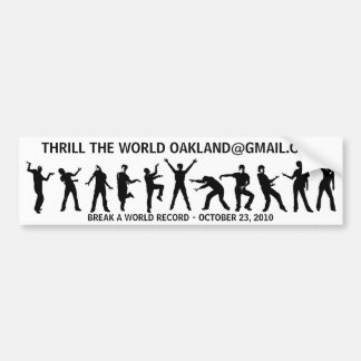Thriller Bumper Sticker