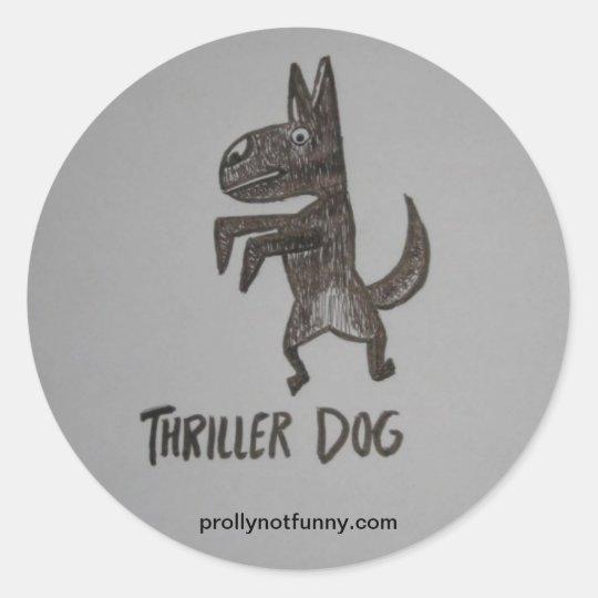 Thriller Dog Classic Round Sticker