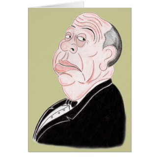 Thriller Movie Director Funny Caricature Card