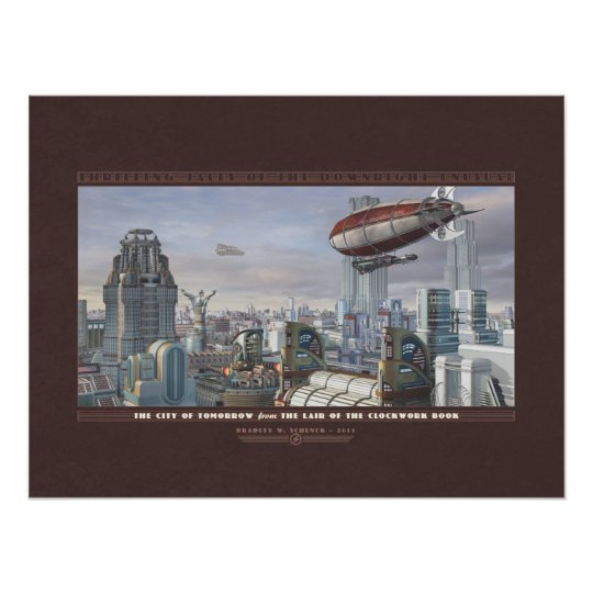 """Thrilling Tales: The City of Tomorrow (24x18"""") Poster"""