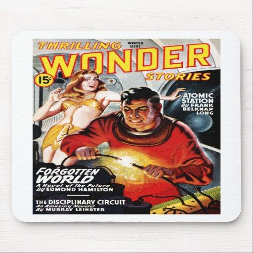 Thrilling Wonder Stories  Forbidden World Mousepad