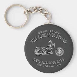 Thrills of Living Key Ring