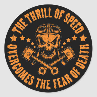 Thrills Overcome Fear Round Sticker