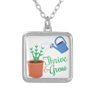 Thrive & Grow Square Pendant Necklace