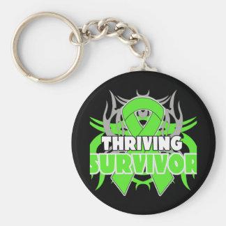 Thriving Non-Hodgkins Lymphoma Survivor Keychains