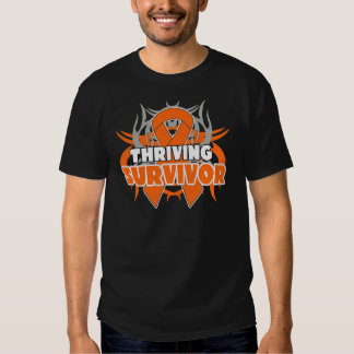 Thriving Skin Cancer Survivor Orange Ribbon Tshirt