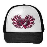Throat Cancer Awareness Heart Wings.png Trucker Hat
