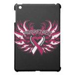 Throat Cancer Awareness Heart Wings.png iPad Mini Case