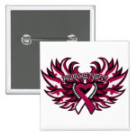 Throat Cancer Awareness Heart Wings.png Pin