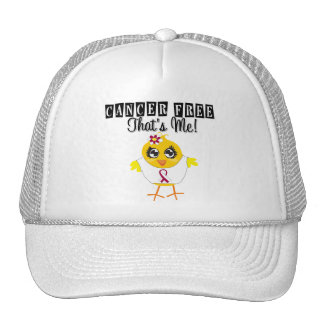 Throat Cancer - Cancer Free That s Me Trucker Hats