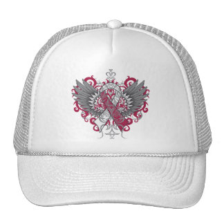 Throat Cancer Cool Wings Hats