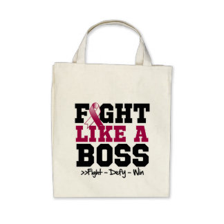 Throat Cancer Fight Like a Boss Canvas Bag