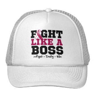 Throat Cancer Fight Like a Boss Trucker Hat