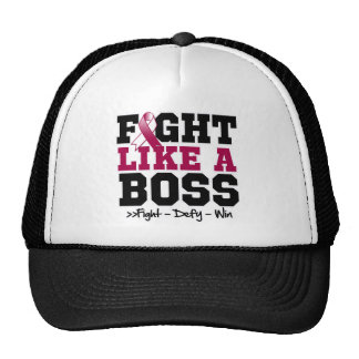 Throat Cancer Fight Like a Boss Trucker Hats