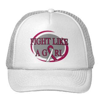 Throat Cancer Fight Like A Girl Circular Trucker Hat