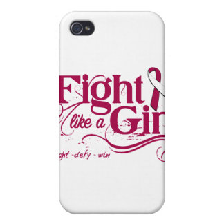 Throat Cancer Fight Like A Girl Elegant Case For iPhone 4