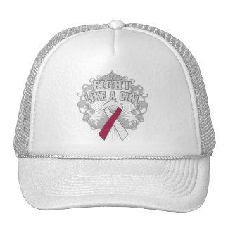 Throat Cancer Fight Like A Girl Fleurish Trucker Hat