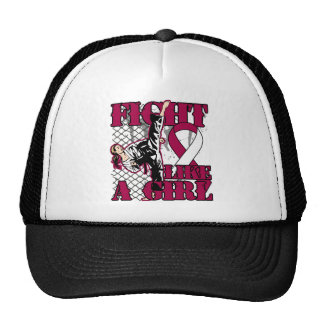 Throat Cancer Fight Like A Girl Kick Hat