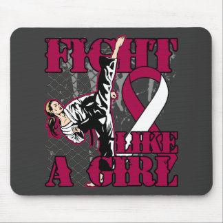 Throat Cancer Fight Like A Girl Kick Mouse Pad