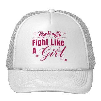 Throat Cancer Fight Like A Girl Ornate Cap