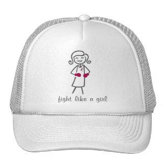 Throat Cancer Fight Like A Girl (Retro) Cap