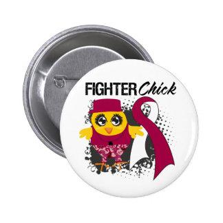 Throat Cancer Fighter Chick Grunge 6 Cm Round Badge