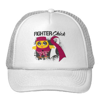 Throat Cancer Fighter Chick Grunge Mesh Hats