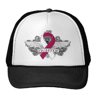 Throat Cancer Fighter Wings Cap