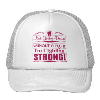 Throat Cancer I Am Fighting Strong Mesh Hats