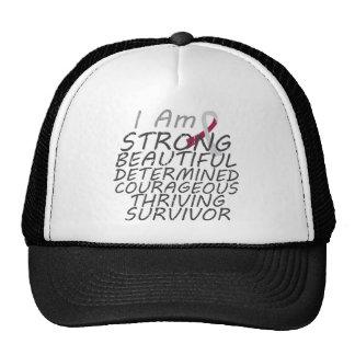Throat Cancer I Am Strong Survivor Trucker Hats
